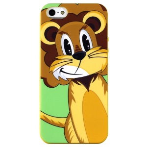 LOFTER Hello Series Sweet Smell IML TPU Case for iPhone 5 5s - Jeoff the Lion