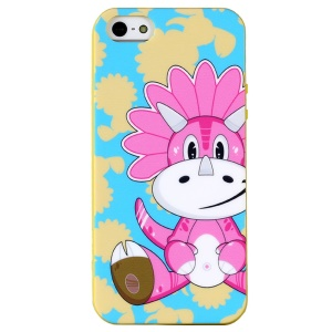 LOFTER Hello Series Sweet Smell IML TPU Skin Cover for iPhone 5 5s - Dinosaur Kate