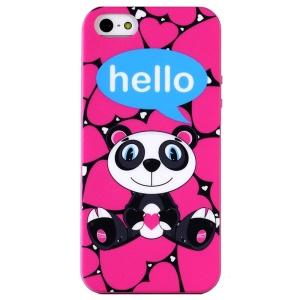 LOFTER for iPhone 5 5s Hello Series Flexible IML TPU Case - Love Hearts Panda Lolo