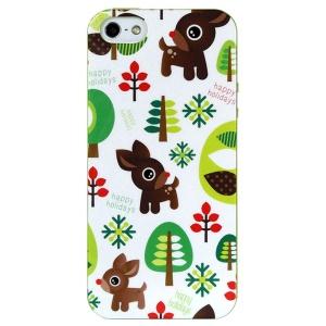 LOFTER Spring Fairy Series Durable IML TPU Gel Case for iPhone 5 5s - Cute Deer & Trees