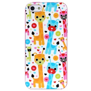 LOFTER Spring Fairy Series Sweet Smell IML TPU Cover for iPhone 5 5s - Cute Giraffes