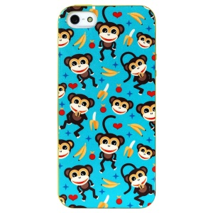 LOFTER Spring Fairy Series Sweet Smell IML TPU Back Case for iPhone 5 5s - Spring Monkeys