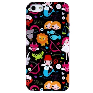 LOFTER Spring Fairy Series Soft IML TPU Phone Case for iPhone 5 5s - Twelve Constellations