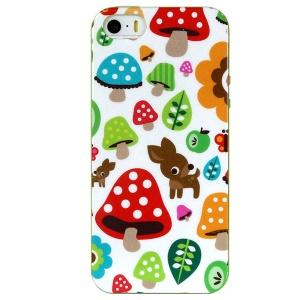 LOFTER Spring Fairy Series IML TPU Cover Case for iPhone 5 5s - Cute Deer & Mushrooms