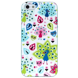 LOFTER for iPhone 5 5s Spring Fairy Series IML TPU Case Shell - Pretty Peacocks