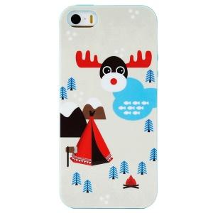LOFTER Winner Sonata TPU Case for iPhone 5/5S -Indiana Family & Deer