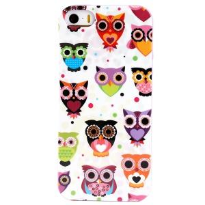 LOFTER Winner Sonata TPU Case for iPhone 5/5S - Owl Family