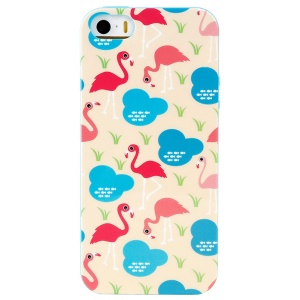 LOFTER Winner Sonata TPU Cover for iPhone 5/5S - Flamingo Family