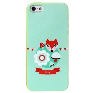 LOFTER Modern Family Series IML TPU Case Cover for iPhone 5 5s - Foxy