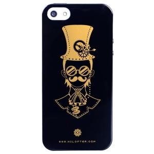 LOFTER Punk Series Punk Mustache Man Fragrance IML TPU Skin Case for iPhone 5 5s