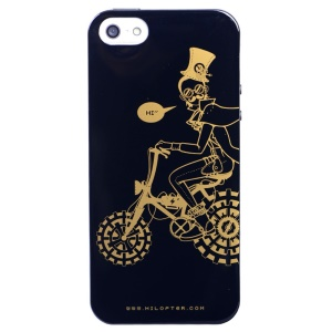 LOFTER Punk Series Man Riding Bicycle IML Soft TPU Case for iPhone 5 5s