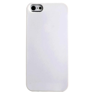 LOFTER Solid Color TPU Gel Skin Cover w/ Perfume Smell for iPhone 5 5s - White
