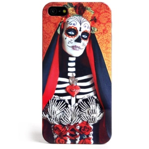 LOFTER Skull Series Queen of The Skull Sweet Smell IML TPU Case for iPhone 5 5s