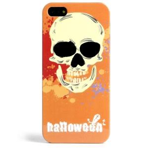 LOFTER Skull Series Orange Halloween Skull IML TPU Cover for iPhone 5 5s w/ Sweet Smell