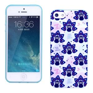 LOFTER for iPhone 5 5s Fragrance IML TPU Protective Case - Purple Peacocks