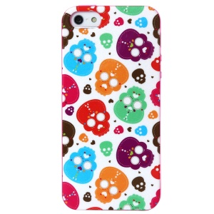 LOFTER Ferger Series Colorful Skulls IML TPU Case Accessory for iPhone 5 5s