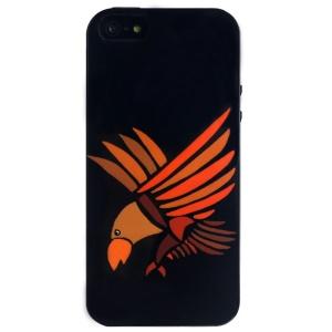 LOFTER Cartoon Series Flexible IML TPU Case for iPhone 5 5s - Eagle