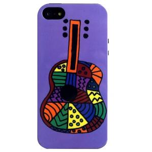 LOFTER Cartoon Series Flexible IML TPU Cover for iPhone 5 5s - Guitar