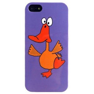LOFTER Cartoon Series Durable IML TPU Gel Case for iPhone 5 5s - Duck