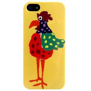 LOFTER Cartoon Series Flexible IML TPU Shell Case for iPhone 5 5s - Cock