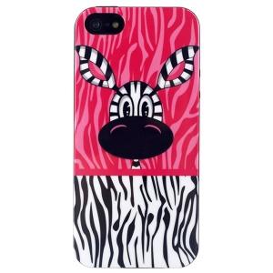 LOFTER Modern Sweet Smell IML Soft TPU Case for iPhone 5 5s - Zebra Lofter