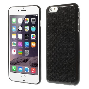 Flower-like Dimante TPU Case for iPhone 6 4.7 Inch - Black