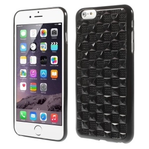 3D Check Rhinestone TPU Case for iPhone 6 4.7 Inch - Black