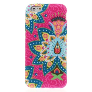 Flower Pattern Cloth Coated TPU Case for iPhone 6 4.7-inch