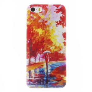 0.6mm Thin TPU Gel Case for iPhone 5s 5 - Scenery Painting