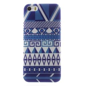 0.6mm Thin TPU Gel Shell for iPhone 5s 5 - Geometric Figure