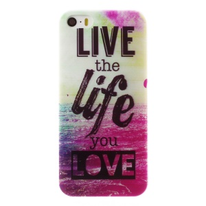 0.6mm Thin TPU Skin Case for iPhone 5s 5 - Live the Life You Love