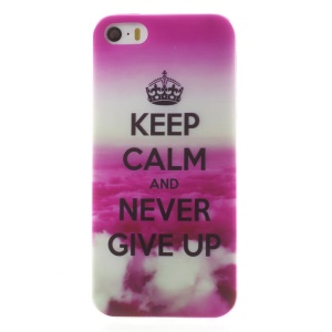 0.6mm Slim TPU Skin Cover for iPhone 5s 5 - Keep Calm and Never Give Up