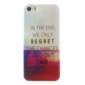 0.6mm Slim TPU Skin Shell for iPhone 5s 5 - Quote and Sea