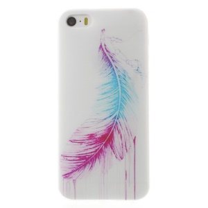 0.6mm Slim Soft TPU Shell for iPhone 5s 5 - Colorized Feather