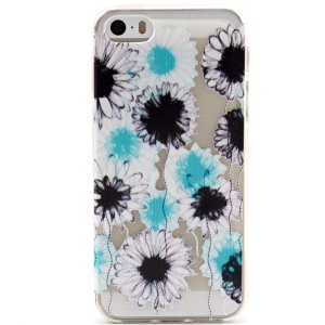 Colorful Chrysanthemum Embossed TPU Cover Case for iPhone 5 5s