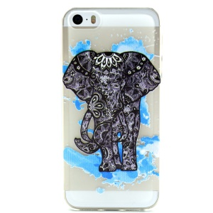 Tribal Art Elephant Embossed TPU Cover Case for iPhone 5 5s