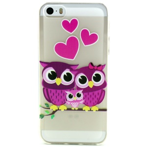 Sweet Owl Family Embossed TPU Gel Case for iPhone 5 5s