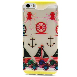 Anchor and Boats Embossed TPU Gel Case for iPhone 5 5s