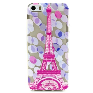 Eiffel Tower and Polka Dot Embossed TPU Cover Case for iPhone 5 5s