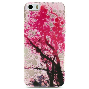 Cherry Blossom Embossed Soft TPU Cover Case for iPhone 5 5s