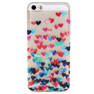 Various Hearts Embossed TPU Cover Case for iPhone 5 5s