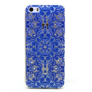 Blue Totem Pattern TPU Diamond Embossed Case for Apple iphone 5/5S