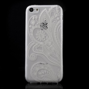 Ultra Slim TPU Case Cover for iPhone 5C - Paisley Flower