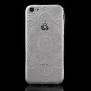 Ultra Slim TPU Case Shell for iPhone 5C - Stylish Mandala Flower