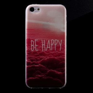 Ultra Slim TPU Shell Cover for iPhone 5C - Be Happy