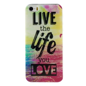 Patterned Soft TPU Cover for iPhone 5s/5 - Quote Live the Life You Love