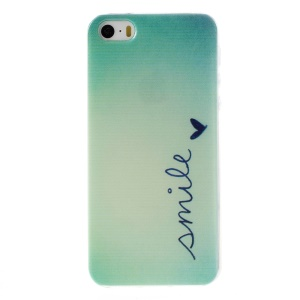 Patterned Soft TPU Shell for iPhone 5s/5 - Smile and Heart