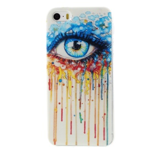 Patterned Soft TPU Skin Cover for iPhone 5s/5 - Colorized Eye