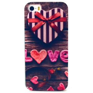 Bowknot LOVE Pattern TPU Gel Case for iPhone 5s 5