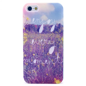 Enjoy Every Moment and Flowers TPU Cover for iPhone 5s 5